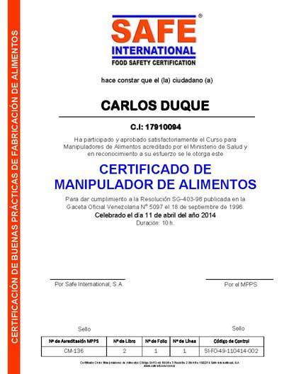 Curso oficial para manipuladores de alimentos acreditado por el ministerio de salud on line - Certificado de manipulador de alimentos gratis online ...